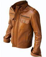 Graceful Tan Fashion Jacket