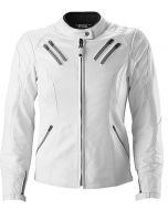 White leather jacket men