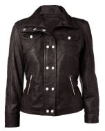 Brown Leather Jacket For Women