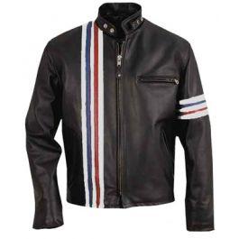 Wyatt Captain America Williams Biker Easy Rider Inspired Black Leather Jacket