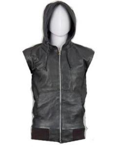 Hood Leather Vest