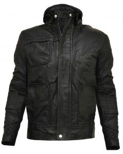 Ghost Protocol Hood Leather Jacket