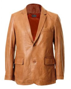 Tan Leather Coat For Men