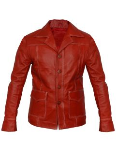 Brad Pitt Fight Club Leather Jacket