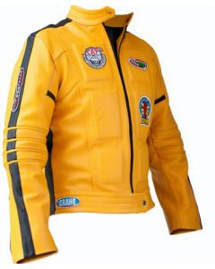 Movie Kill Bill Yellow Leather Jacket