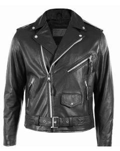 Biker Boyz Smoke Black Leather Jacket