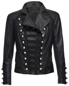 Military leather jackets for women