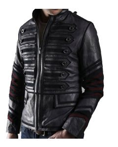 Military Black Leather Jacket