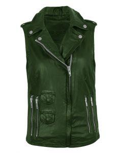 Women green vest front