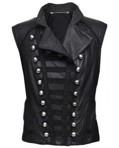 Women black vest front