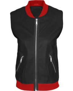 women black and red vest