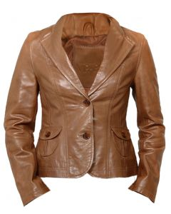 Tan Leather Coat For Women