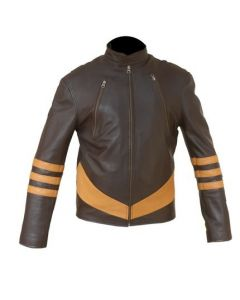 X-Men Wolverine Distressed Leather Jacket