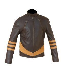 X-Men Wolverine Distressed Leather Jacket